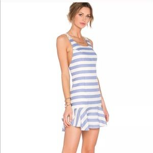 Lovers + Friends Striped Dress White/Blue